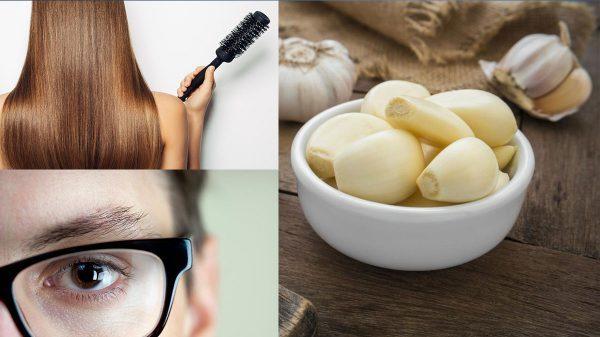 Alho melhora o crescimento dos cabelos e ajuda a visão