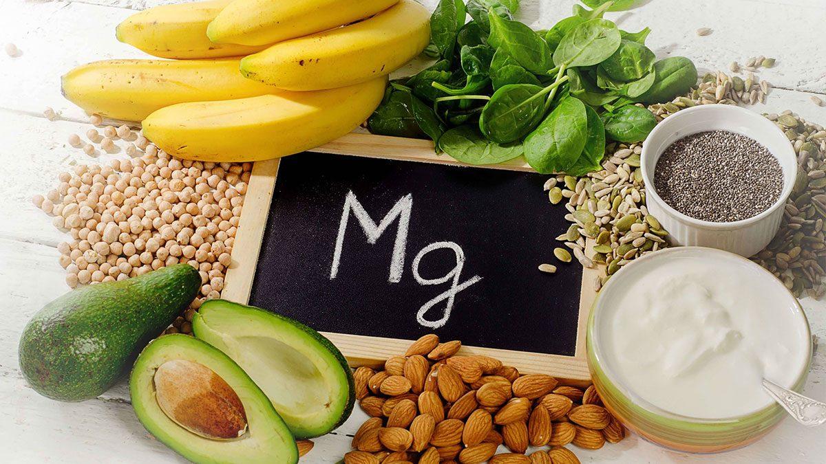 Alimentos ricos em magnésio.