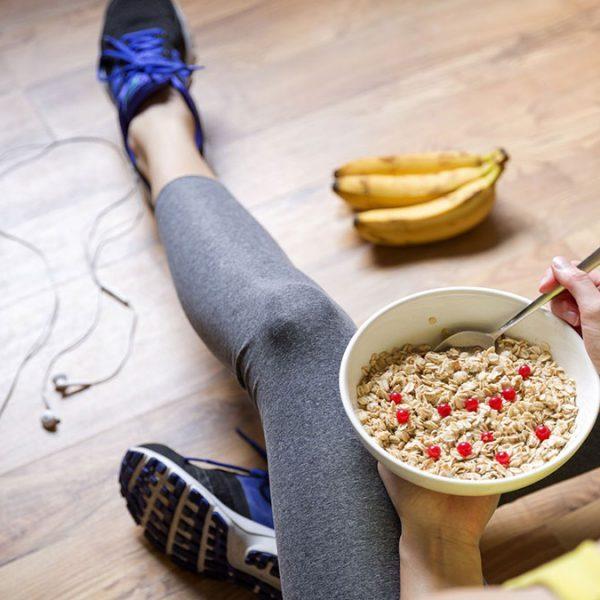 Comer antes e depois do treino.